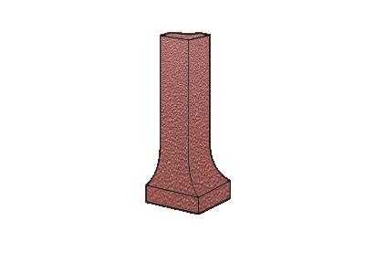 ZF угол фигурный наружный Oxidrot uni 304 H=100x9 мм