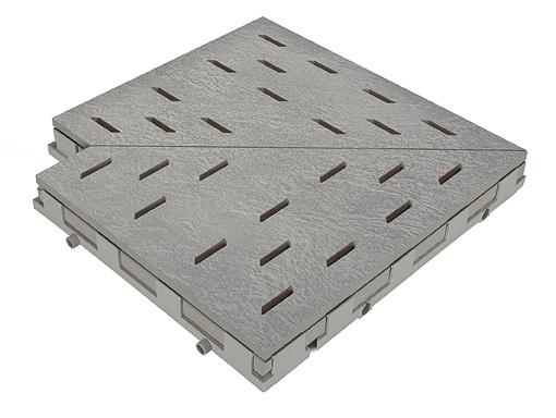 Решетка для бассейна угол mittelgrau 30x30 cm