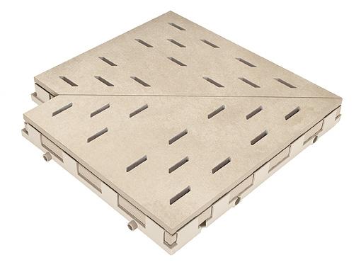 Решетка для бассейна угол sandbeige 30x30 cm