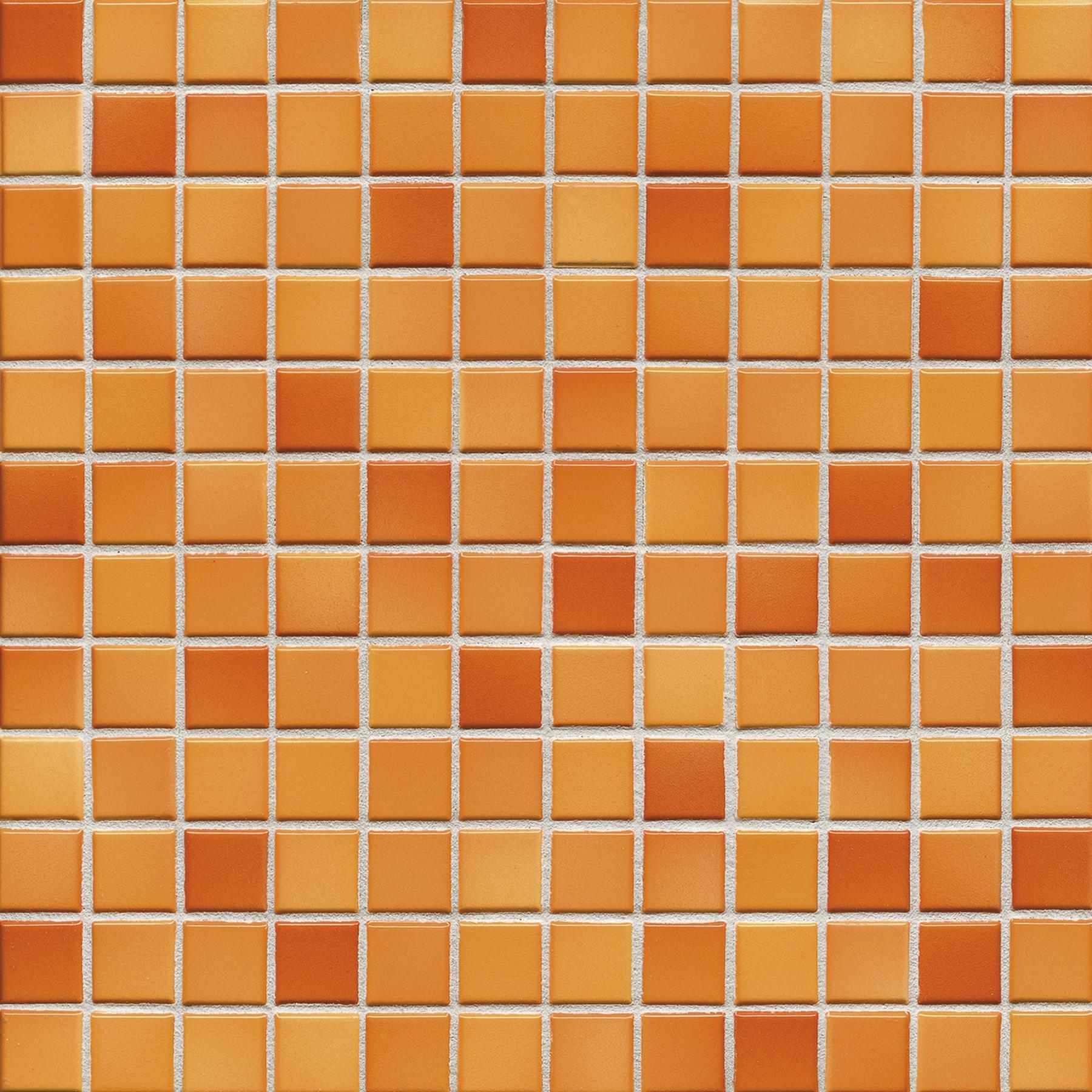 Jasba FRESH sunset orange mix glossy 24x24x6,5 mm 41211H