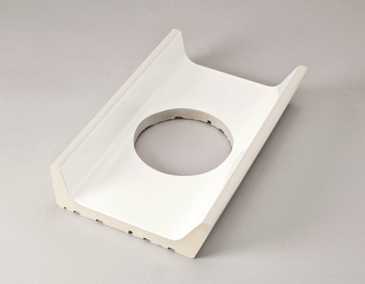 Лоток со сливом (ø 100 mm) 244x160x55/15 мм