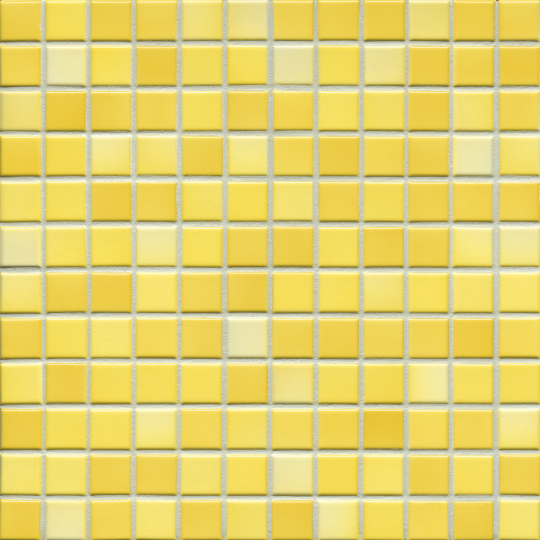 Jasba FRESH sunshine yellow mix glossy 24x24x6,5 mm 41214H