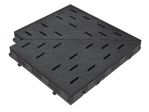 Решетка для бассейна угол tiefanthrazit 30x30 cm