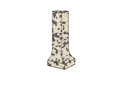 ZF угол фигурный наружный Grauporphyr 21 H=100x9 мм