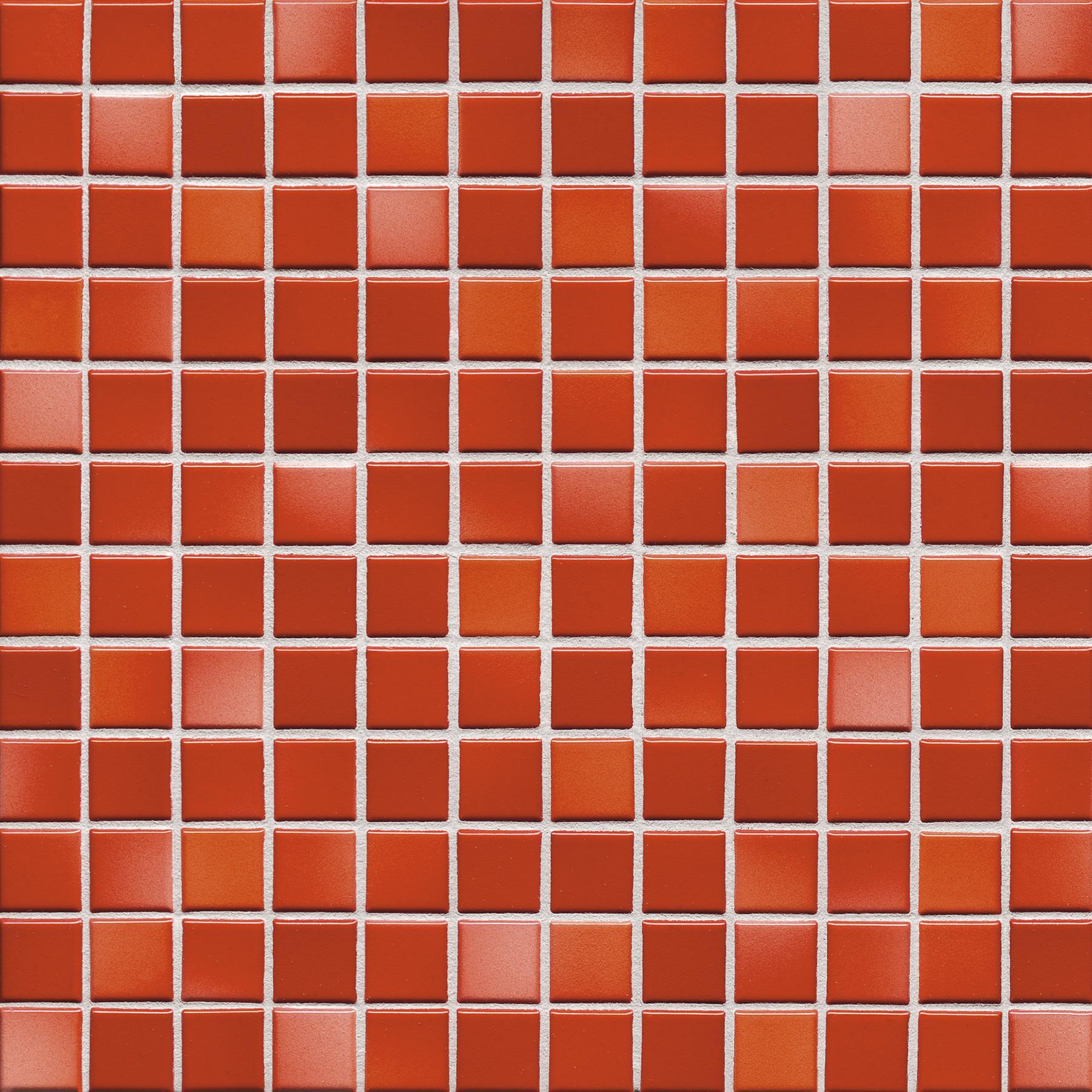 Jasba FRESH coral red mix glossy 24x24x6,5 mm 41212H