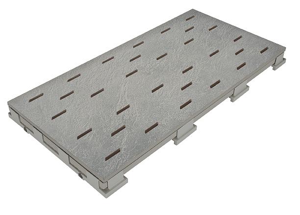 Решетка для бассейна mittelgrau 25x50 cm