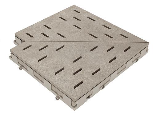 Решетка для бассейна угол kieselgrau 30x30 cm