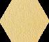 Zahna Fliesen Cremegelbmix 94 Hexagon 100/115x18 мм