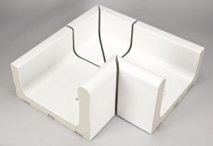 Внутренний уголок, 4-секционный Silent 414/119x295x138/194 мм