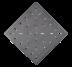 Стальная анкерная плитка 297x297x25 Type A3 AISI 304