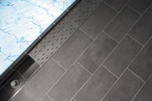 Решетка для бассейна угол 667 anthrazit 30x30 cm