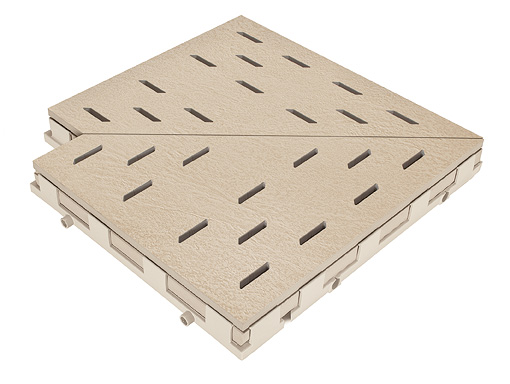 Решетка для бассейна угол hellbeige 30x30 cm