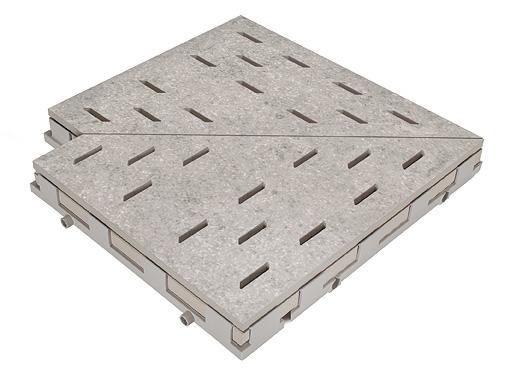 Решетка для бассейна угол 669 mittelgrau 30x30 cm