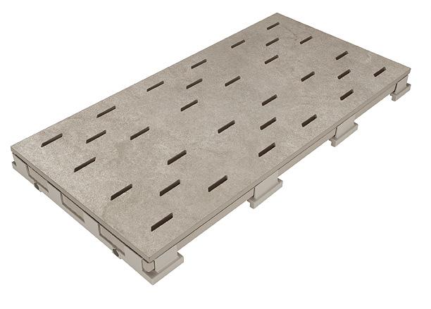 Решетка для бассейна kieselgrau 25x50 cm