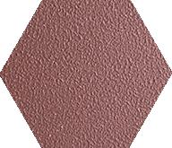 Zahna Fliesen Oxidrot Uni 304 Hexagon 100/115x18 мм