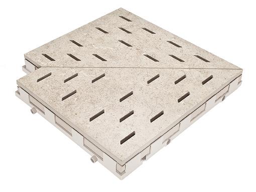 Решетка для бассейна угол 668 lime-white30x30 cm