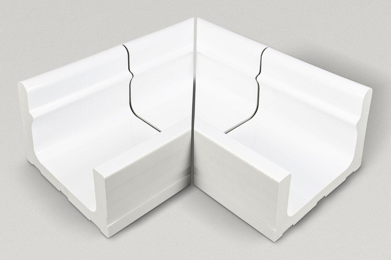 Внутренний уголок, 4-секционный, звукопоглощающий Wiesbaden 414/119x295x200/140 мм