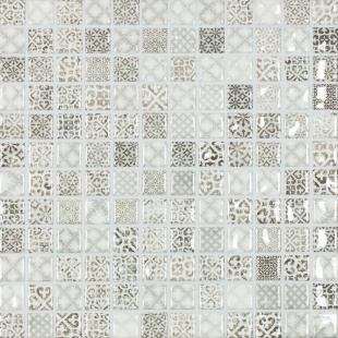 Jasba ARAGON grey-mix glossy 24x24x6.5 mm