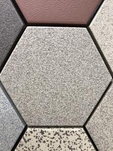 Zahna fliesen Grauweissmix 22 Hexagon 100/115x18 мм
