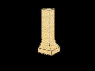 ZF угол фигурный наружный Cremegelbmix 94 H=100x9 мм