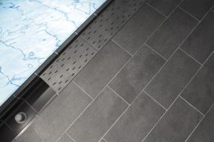 Решетка для бассейна угол graubraun 30x30 cm