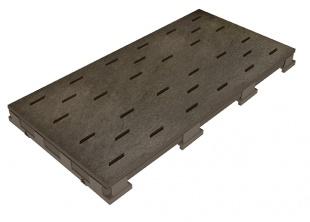 Решетка для бассейна erdbraun 25x50 cm