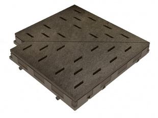 Решетка для бассейна угол erdbraun 30x30 cm